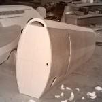 """Vielle à roue modèle """"Olive"""" en construction"""